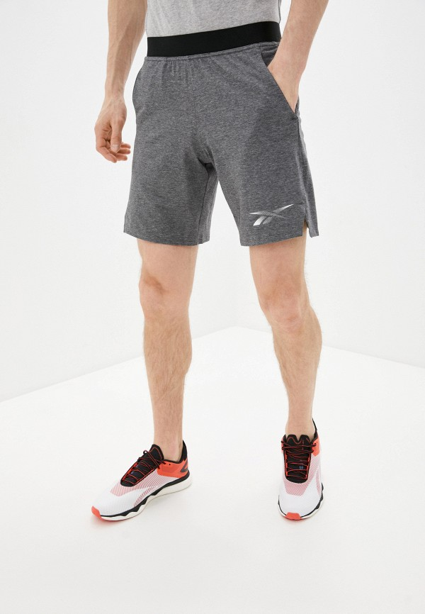 мужские спортивные шорты reebok, серые