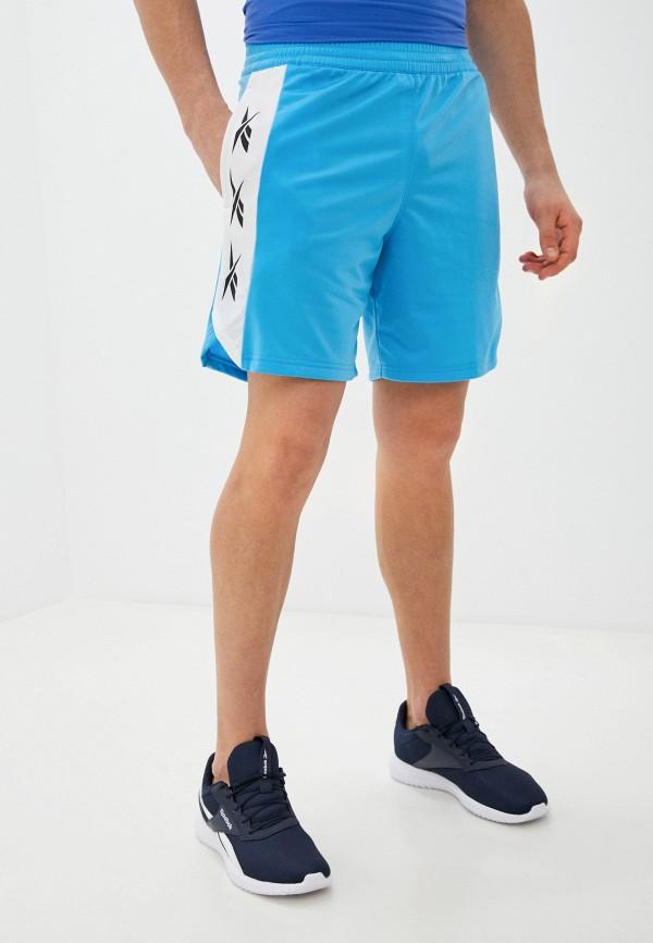 мужские спортивные шорты reebok, голубые