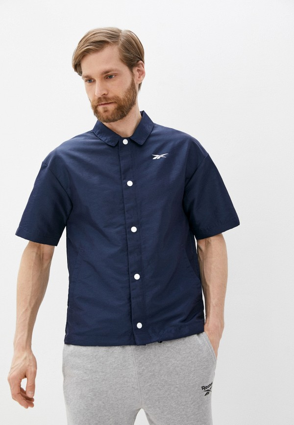 мужская рубашка reebok, синяя