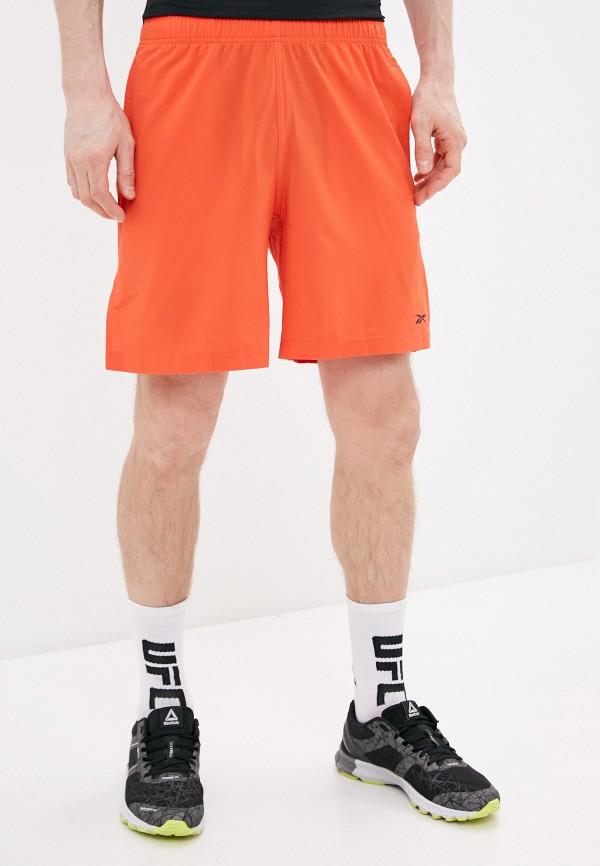 мужские спортивные шорты reebok, оранжевые
