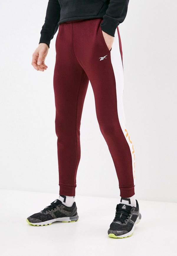 мужские спортивные брюки reebok, бордовые