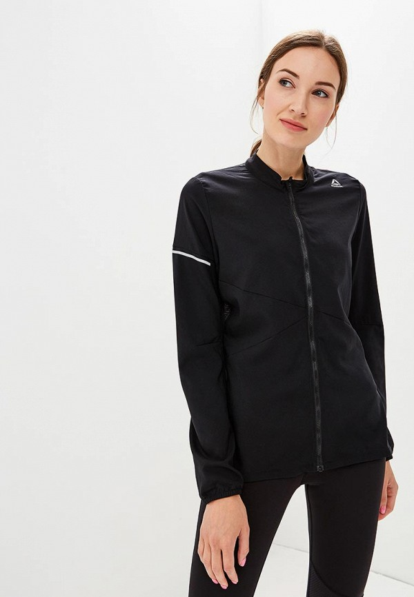 Купить Куртка спортивная Reebok, RUN HERO JKT, RE160EWCDND7, черный, Осень-зима 2018/2019