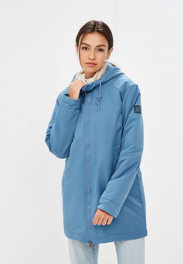 Купить Куртка утепленная Reebok, OD FL PRKA, RE160EWCDNV5, голубой, Осень-зима 2018/2019