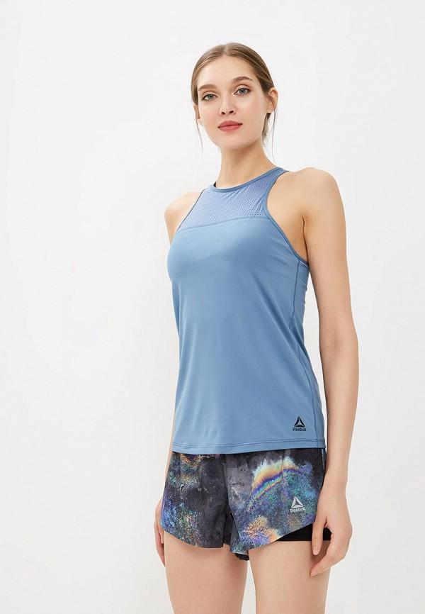 женский спортивные спортивный бюстгальтер reebok, синий