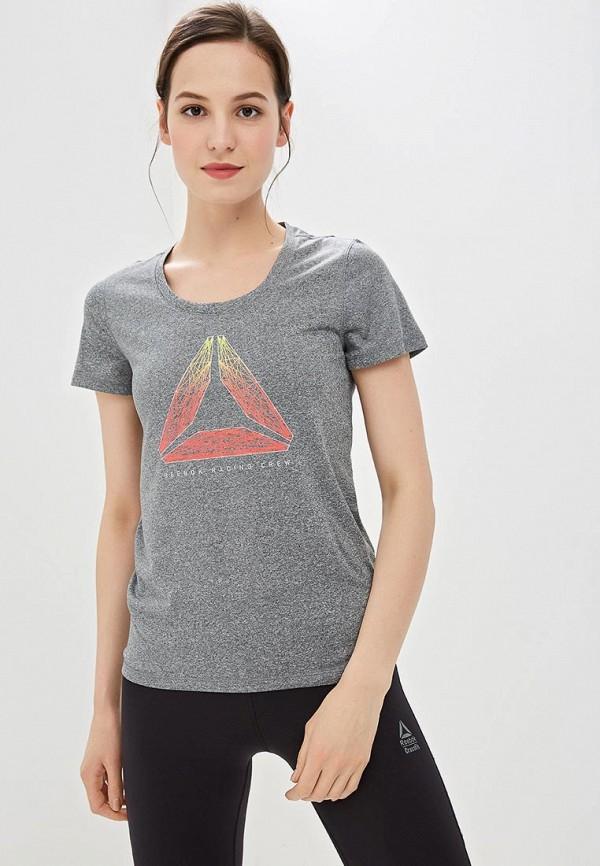 женская спортивные футболка reebok, серая