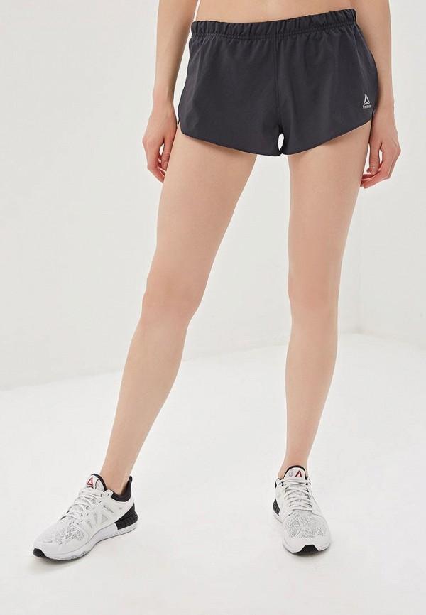 женские спортивные спортивные шорты reebok, серые