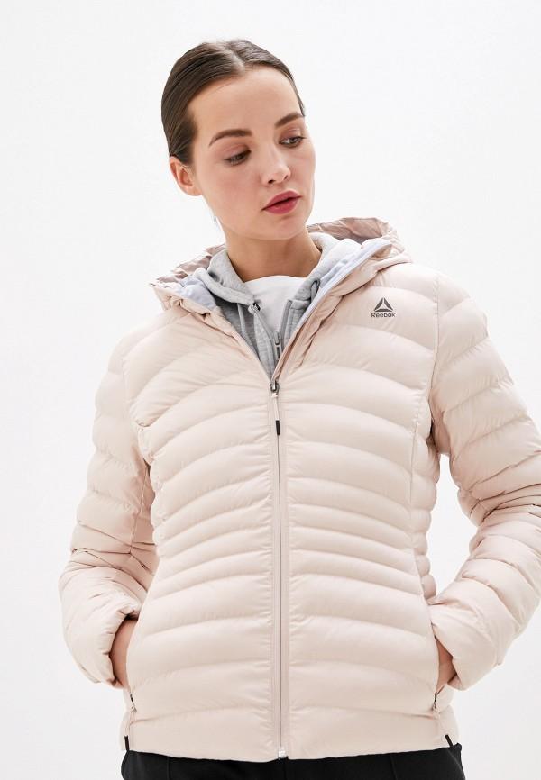 женская куртка reebok, бежевая