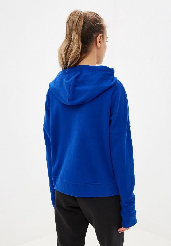 Фото 3 - женскую толстовку или олимпийку Reebok синего цвета