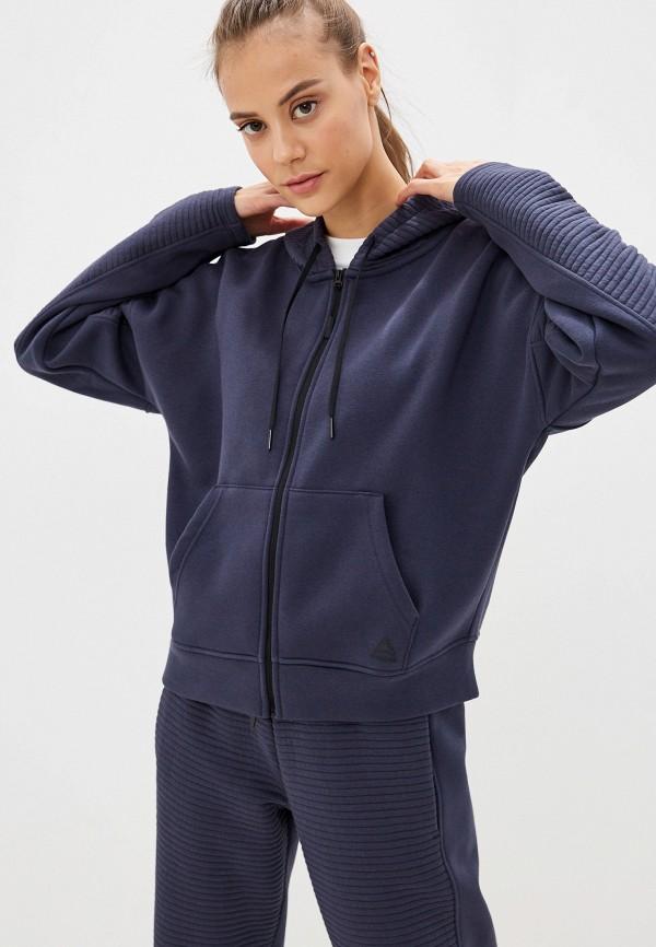 Фото - женскую толстовку или олимпийку Reebok синего цвета