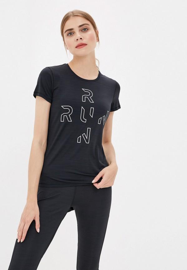 Купить женскую футболку Reebok черного цвета
