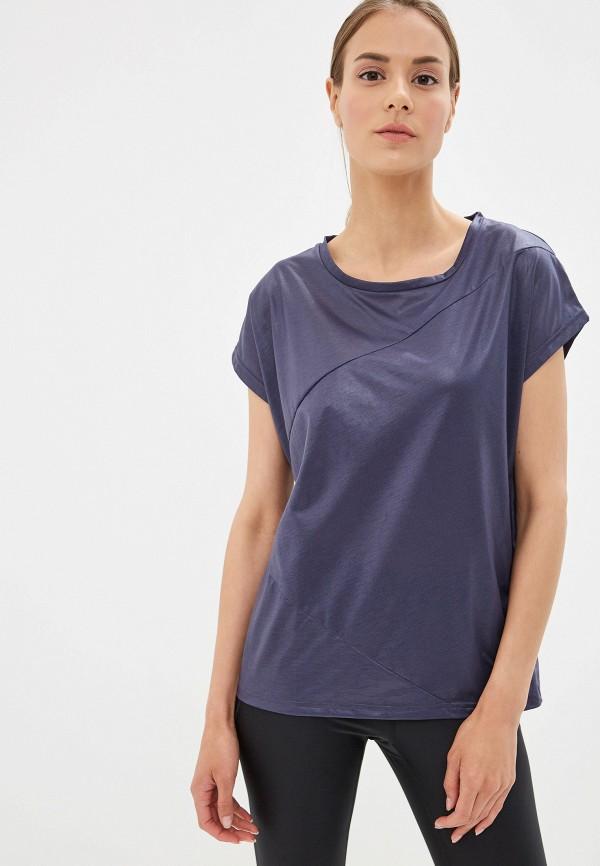 женская спортивные футболка reebok, синяя