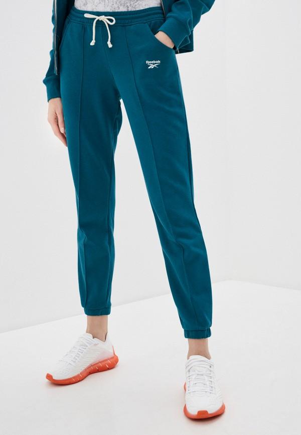 женские спортивные брюки reebok, зеленые