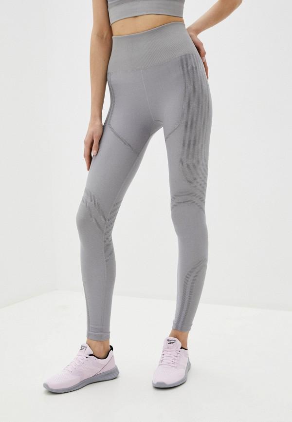женские спортивные леггинсы reebok, серые