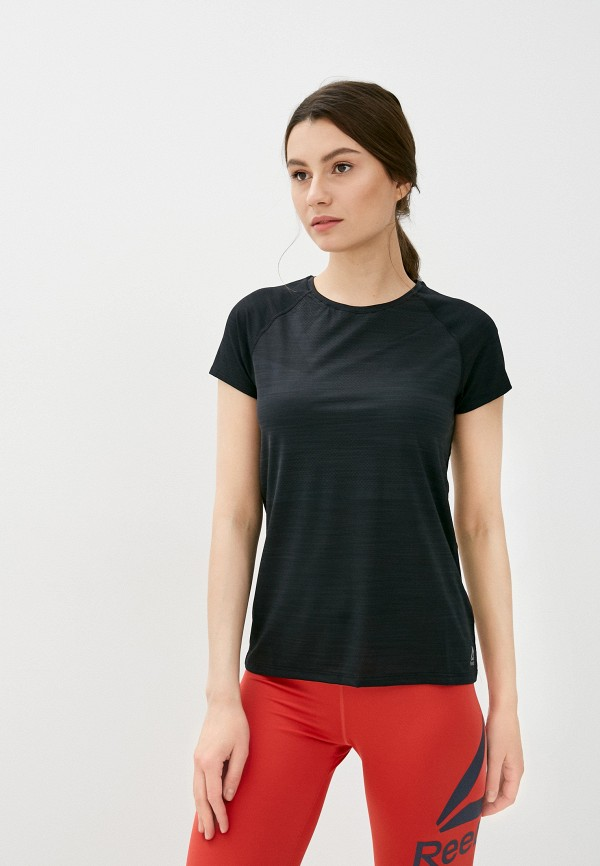 женская футболка reebok, черная