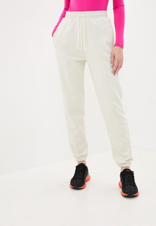 женские спортивные брюки reebok, бежевые