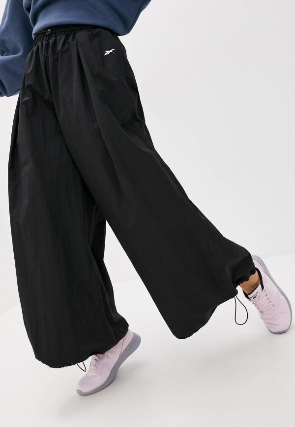 женские брюки reebok, черные