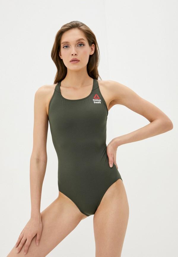 женский купальник reebok, зеленый