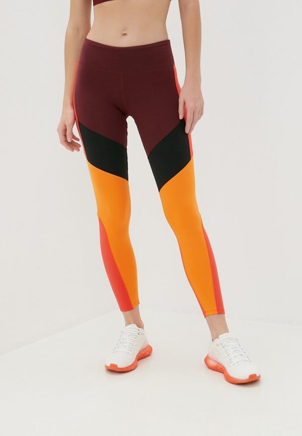 женские спортивные леггинсы reebok, разноцветные