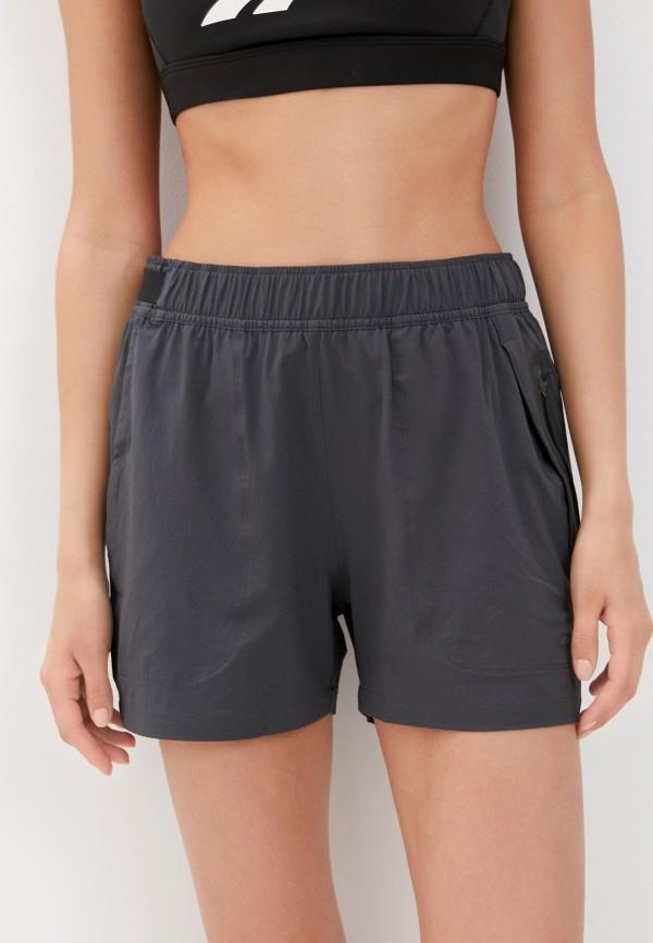 женские спортивные шорты reebok, серые
