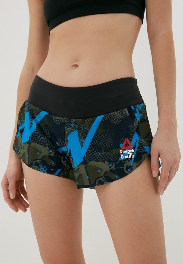женские спортивные шорты reebok, хаки