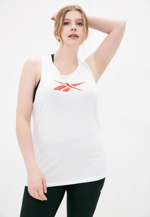 женская спортивные майка reebok, белая
