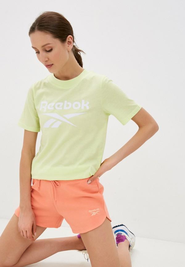женская спортивные футболка reebok, зеленая