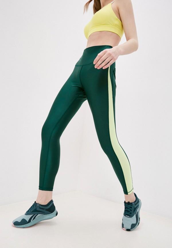женские спортивные леггинсы reebok, зеленые