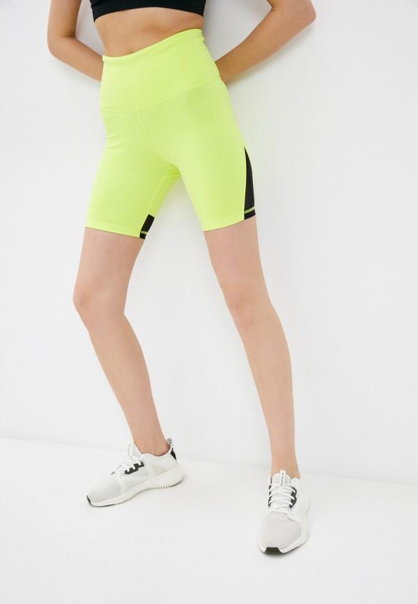 женские спортивные шорты reebok, желтые