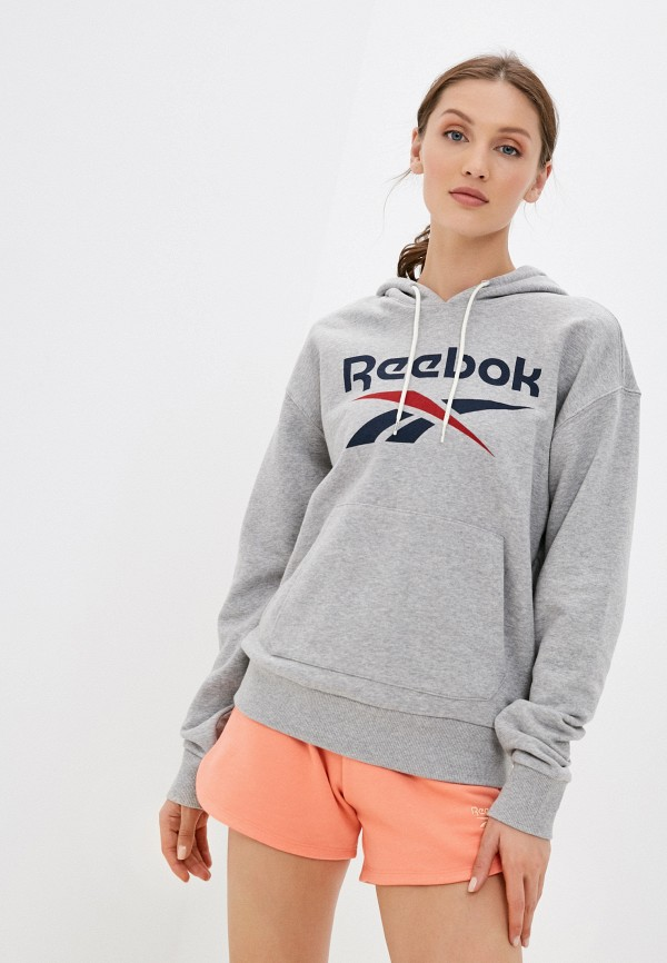женские худи reebok, серые