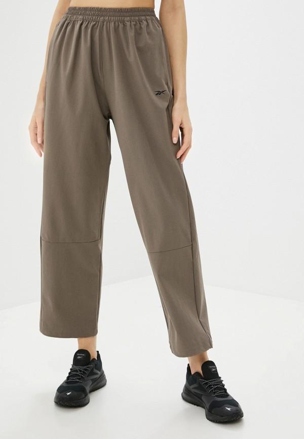 женские спортивные брюки reebok, коричневые