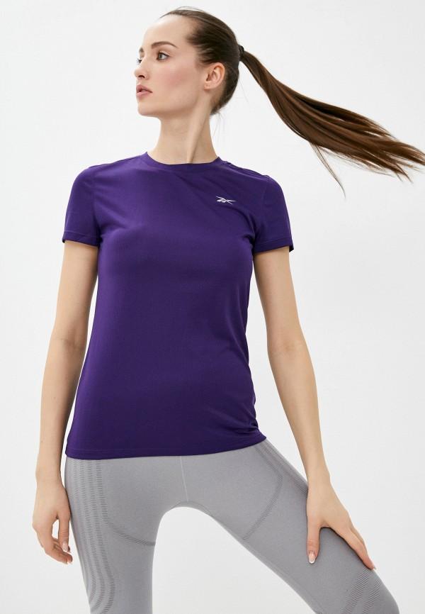 женская спортивные футболка reebok, фиолетовая