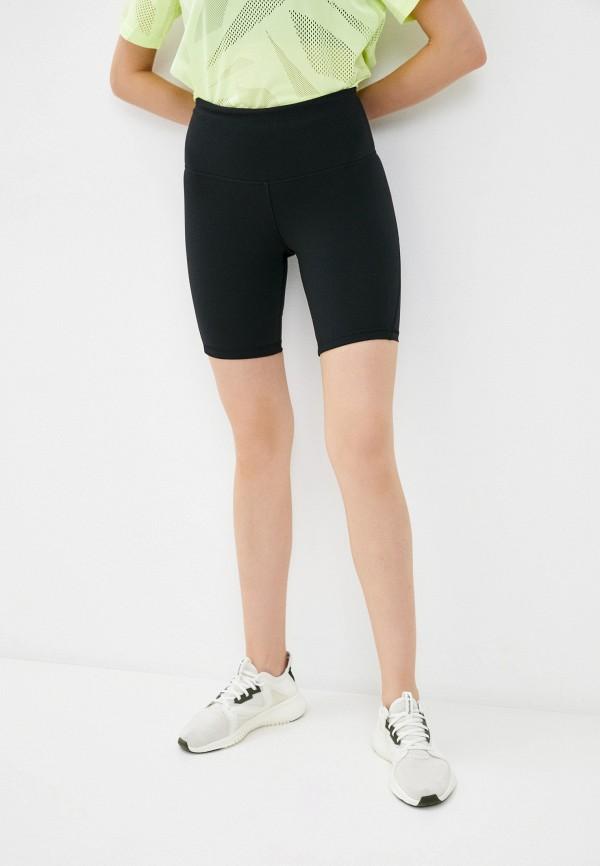 женские спортивные шорты reebok, черные
