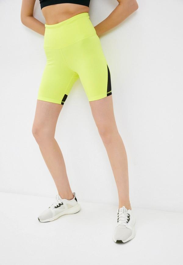 Шорты спортивные Reebok желтого цвета