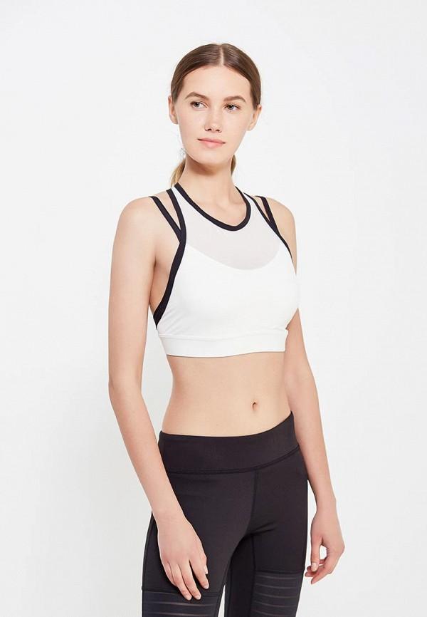 женский спортивные спортивный бюстгальтер reebok, белый