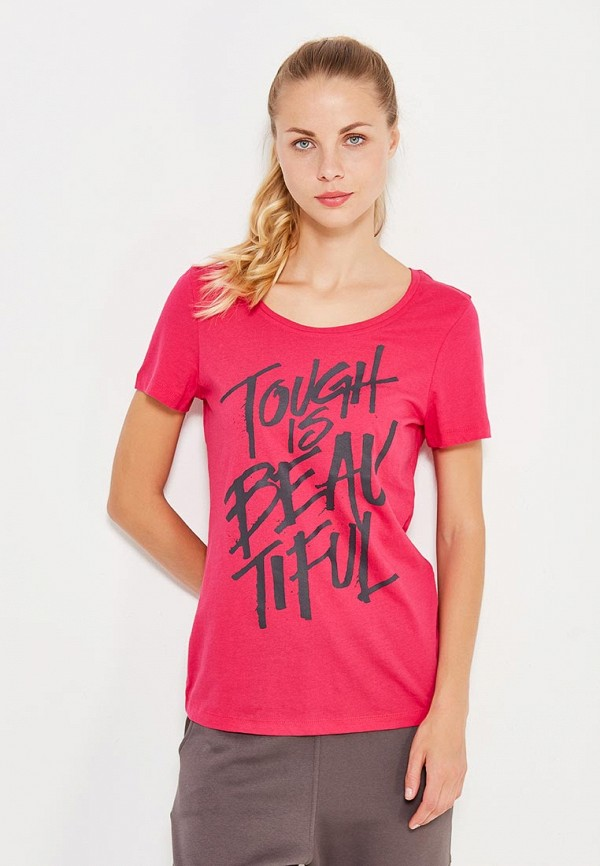 Фото - женскую футболку Reebok розового цвета