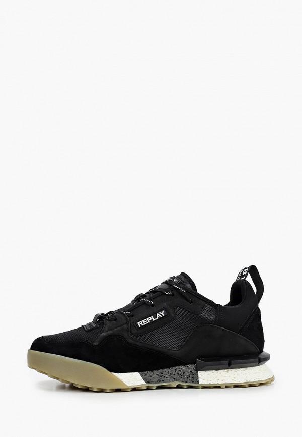 мужские низкие кроссовки replay, черные