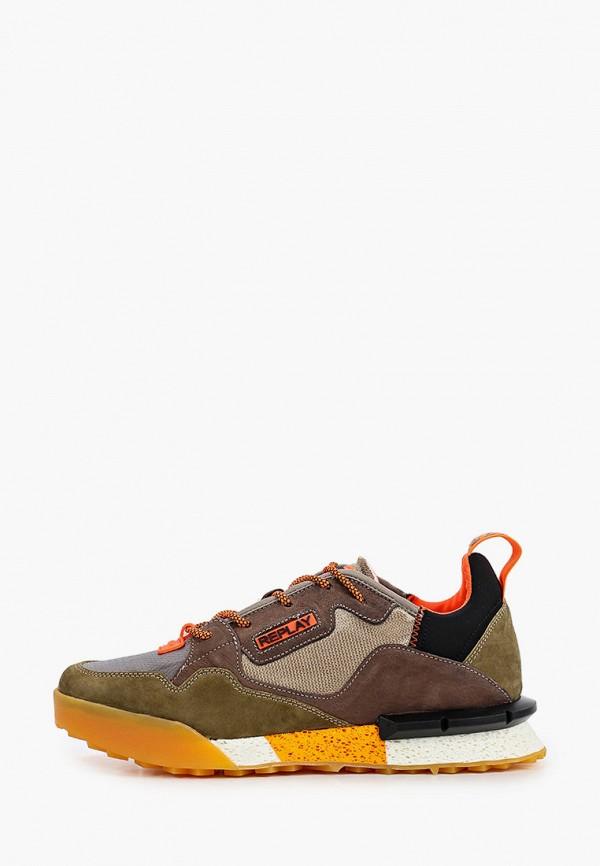мужские низкие кроссовки replay, коричневые