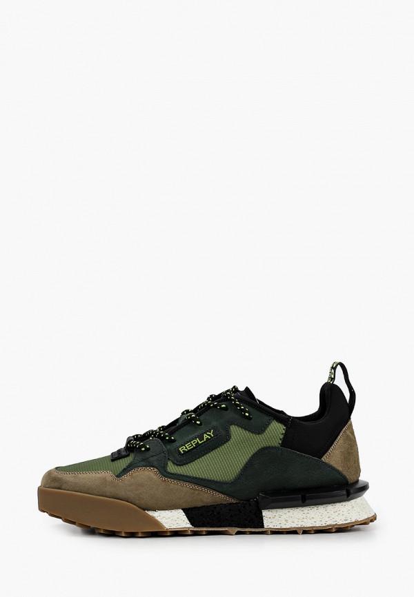 мужские кроссовки replay, зеленые