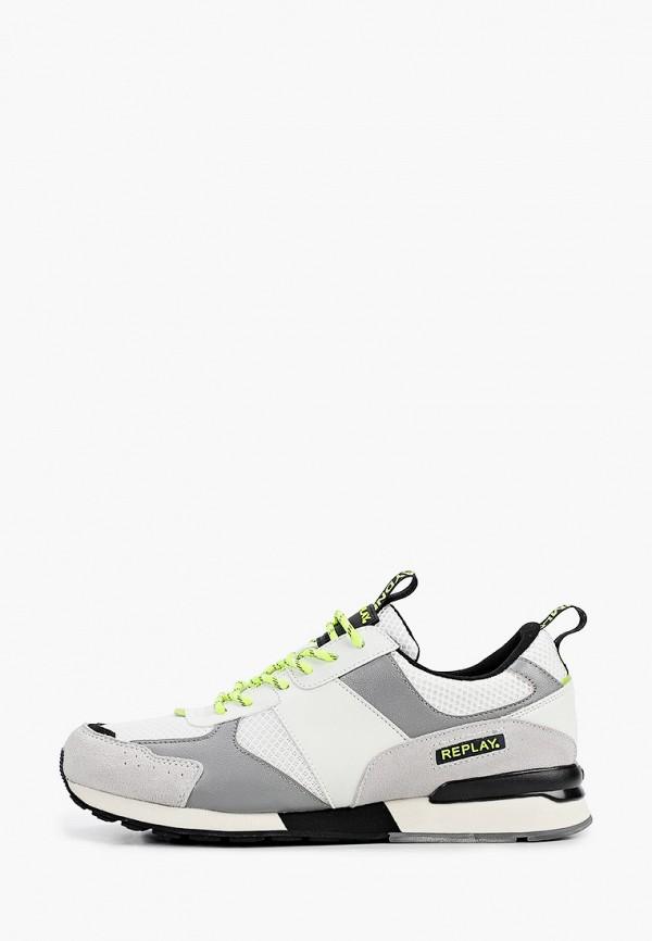 мужские низкие кроссовки replay, белые