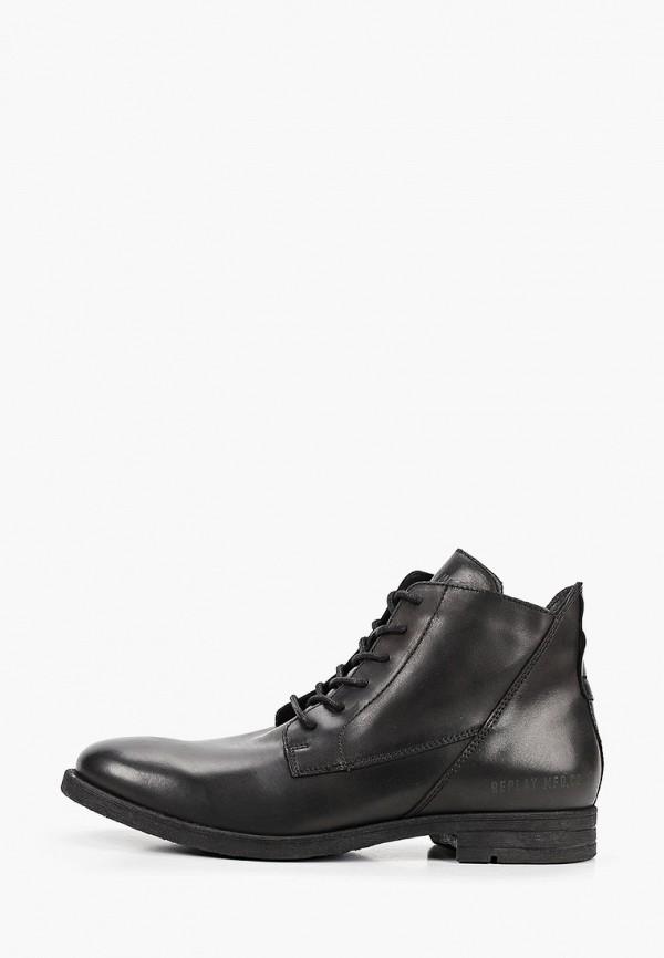 мужские ботинки replay, черные