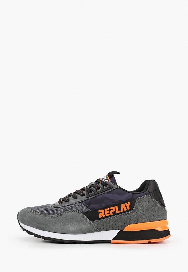 мужские кроссовки replay, серые