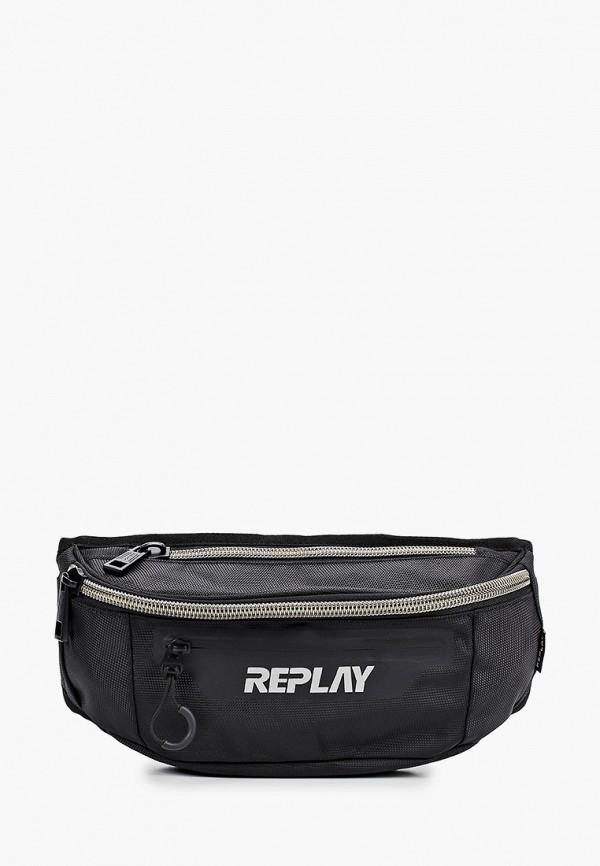 мужская поясные сумка replay, черная