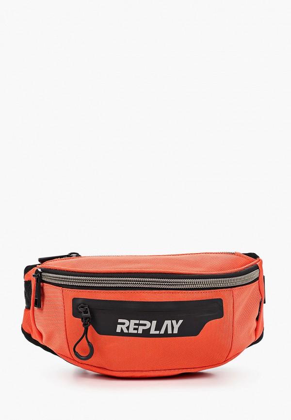мужская поясные сумка replay, оранжевая