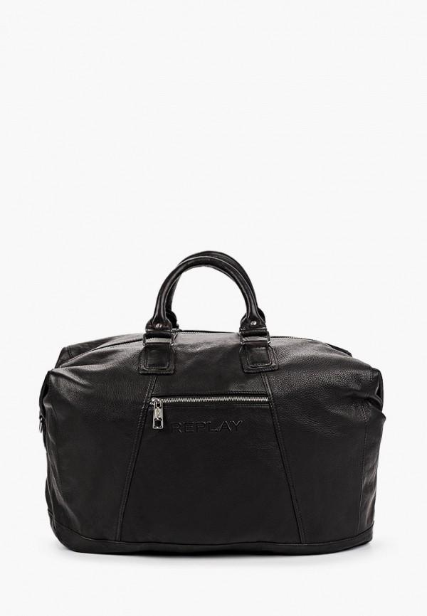 мужская дорожные сумка replay, черная