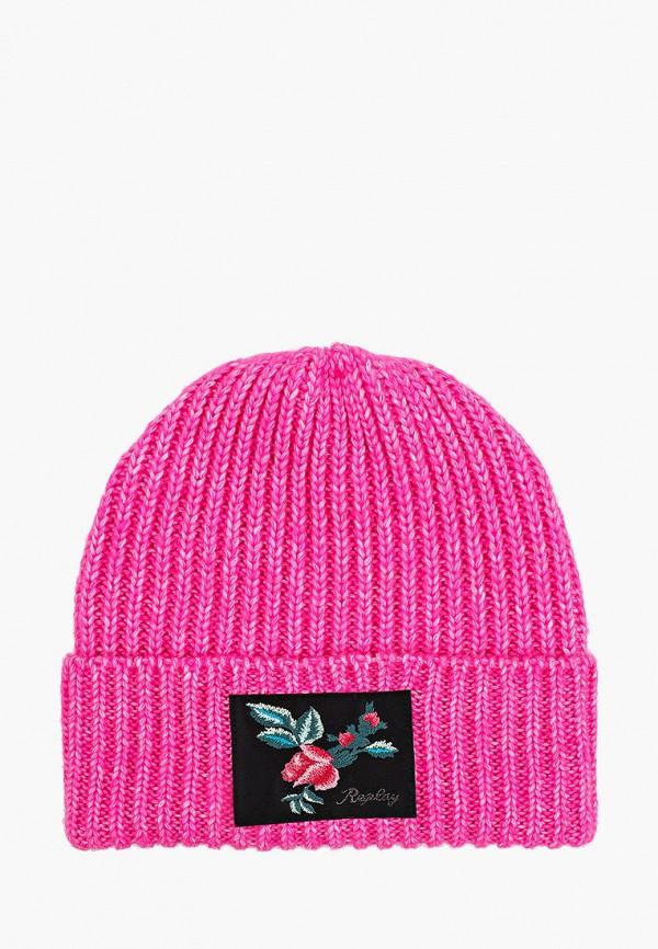 шапка replay для девочки, розовая