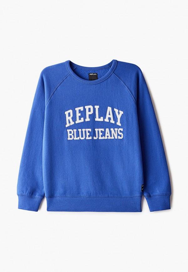 свитшот replay для мальчика, синий