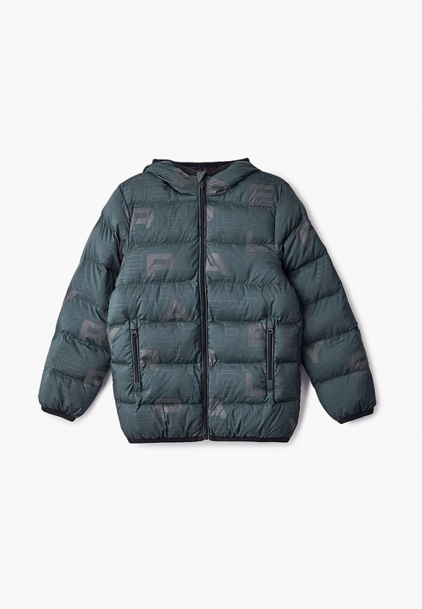 куртка replay для мальчика, зеленая