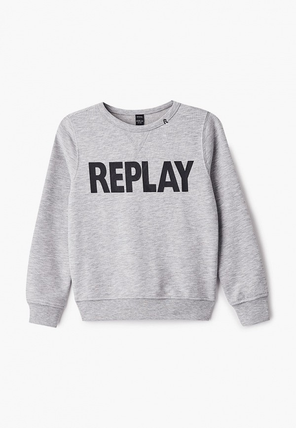 свитшот replay для мальчика, серый