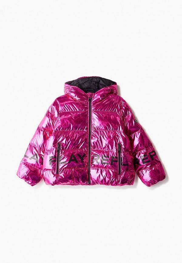 куртка replay для девочки, розовая