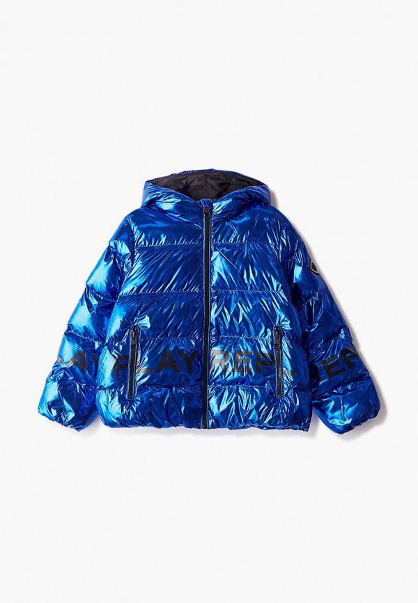 куртка replay для девочки, синяя